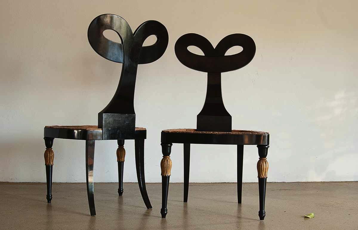 Haans-Schwippert-Tisch - 6 Krahn Stühle
